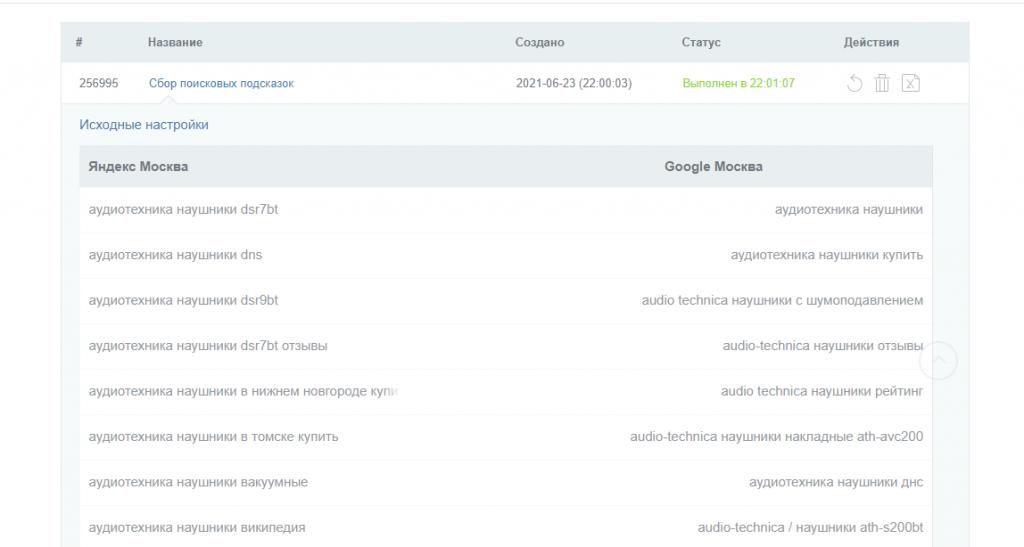 Сервис собрал более 300 поисковых подсказок по двум поисковым системам