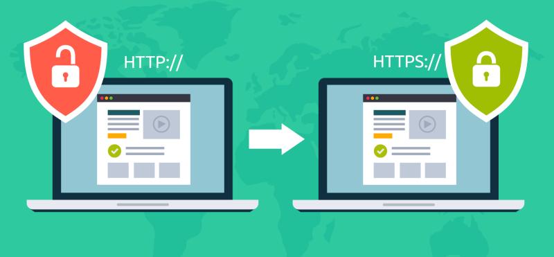С HTTP на HTTPS тоже нужен редирект